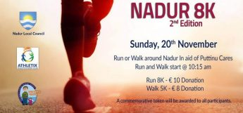 Nadur 8K second edition taking place in aid of Puttinu Cares