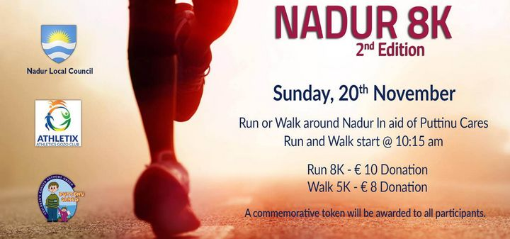 Nadur 8K and walk taking place this Sunday in aid of Puttinu Cares