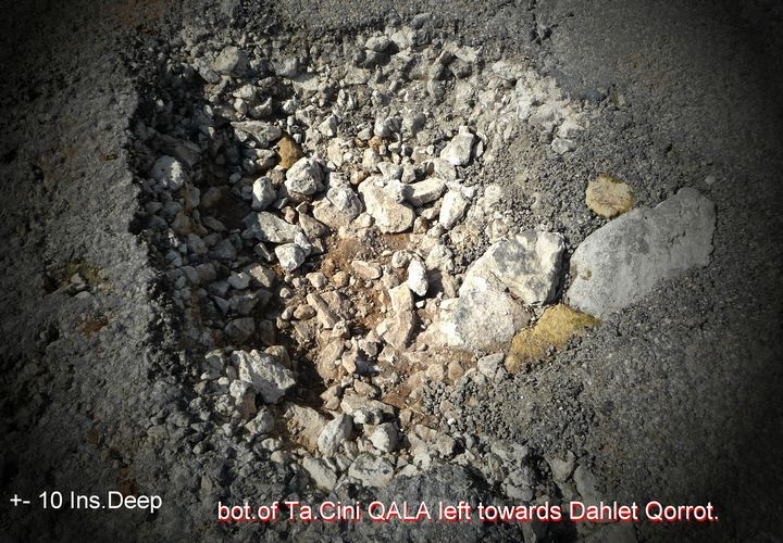 Dangerous potholes in roads around Qala - Readers Letter
