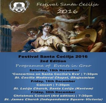 Santa Cecilia Festival gets underway in Gozo this coming Saturday