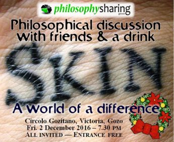 Philosophy Sharing Gozo talk - Skin by Dr Max Cassar
