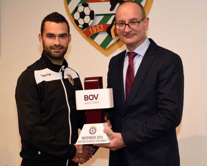 BOV GFA November Player of the Month is Kercem's Elton Vella