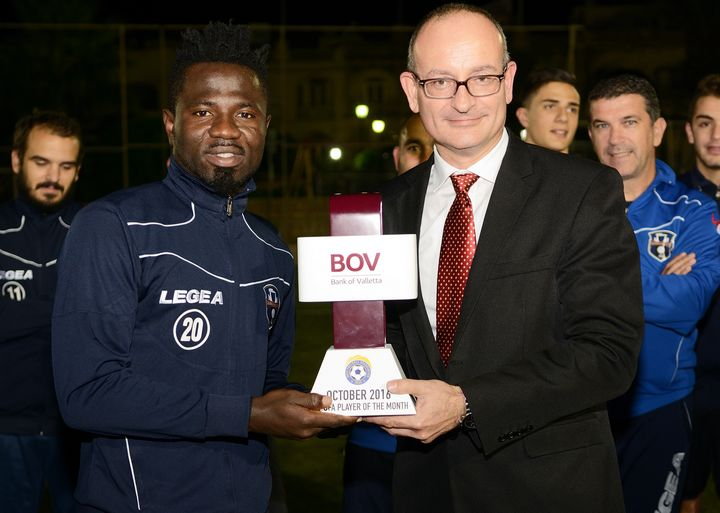 Xaghra's Daniel Sowatey wins BOV GFA Player of the Month