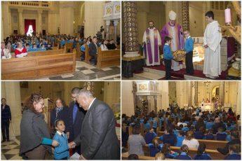 Gozitan children attend Mass at Ta' Pinu in aid of Puttinu Cares