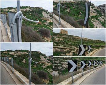 San Lawrenz Council condemns vandalism on Dwejra road safety signs