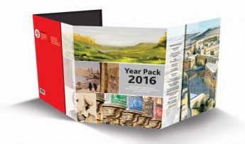 MaltaPost launches the Year Pack including stamp sets issued in 2016