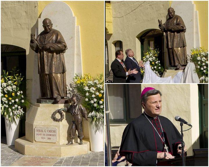 Monument unveiled dedicated to Bishop Emeritus Nikol G. Cauchi