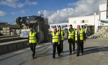 Gozo Minister visits R A & Sons at Xewkija Industrial Estate