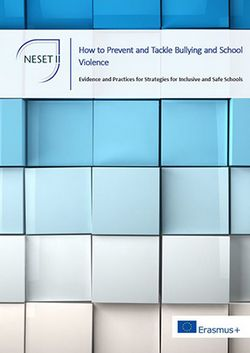 EU Report on the prevention of bullying and violence in schools