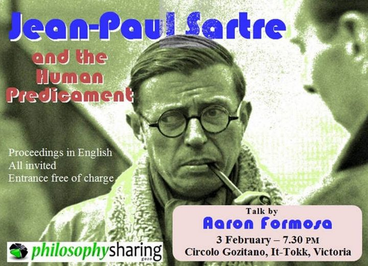 Jean Paul Sartre & the Human Predicament Event - by Aaron Formosa
