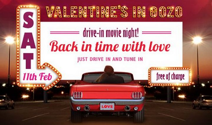 Drive-in movie night for Valentine's in Gozo