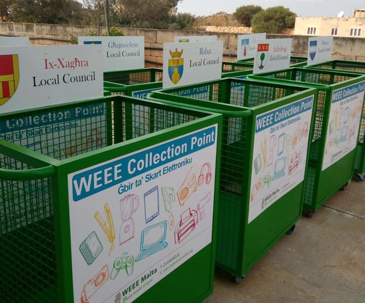 WEEE Collection Trolleys now in 11 localities across Gozo