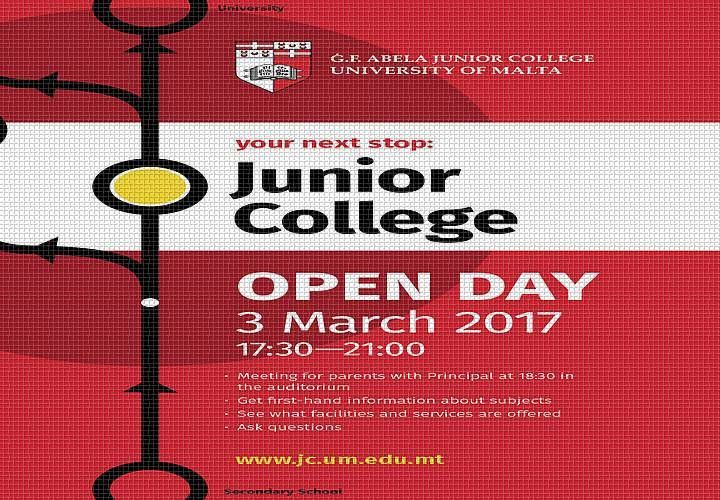 Your Next Stop … Junior College -Open Day