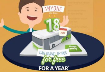 531 travelled by bus for free in January and February
