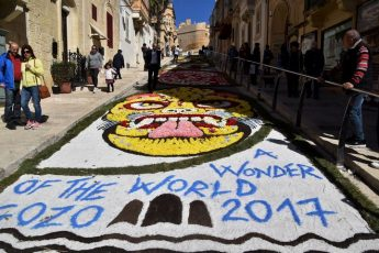 Artistic Ephemeral Art, A Wonder of the World, at the Cittadella
