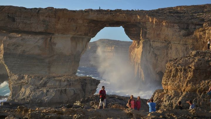The Azure Window, Gozo's iconic landmark collapsed this morning