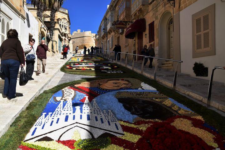 Artistic Ephemeral Art, A Wonder of the World, at the Cittadella