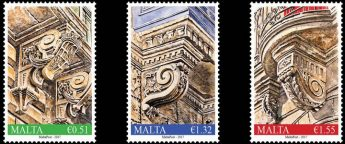 MaltaPost stamp issue in the series depicting Balcony Corbels