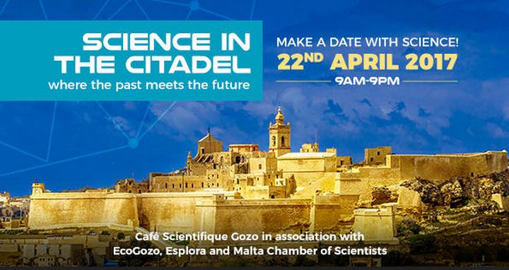 Science in the Citadel next Saturday in Gozo