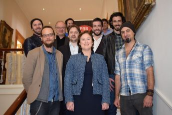 Maltese music creators meet MEP Therese Comodini Cachia