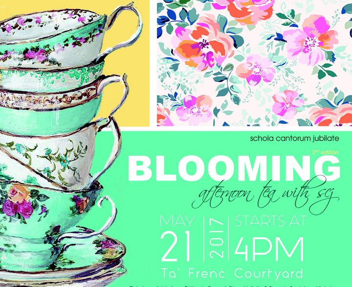 Blooming…afternoon tea with SCJ in Gozo next Sunday