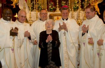 Carmen Vella of Qala celebrates her 101st birthday with special Mass