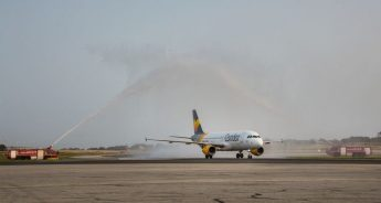 Condor's inaugural scheduled flight from Hamburg welcomed at MIA