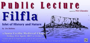 Filfla - Islet of History and Nature - Wirt Ghawdex lecture by Joe Sultana