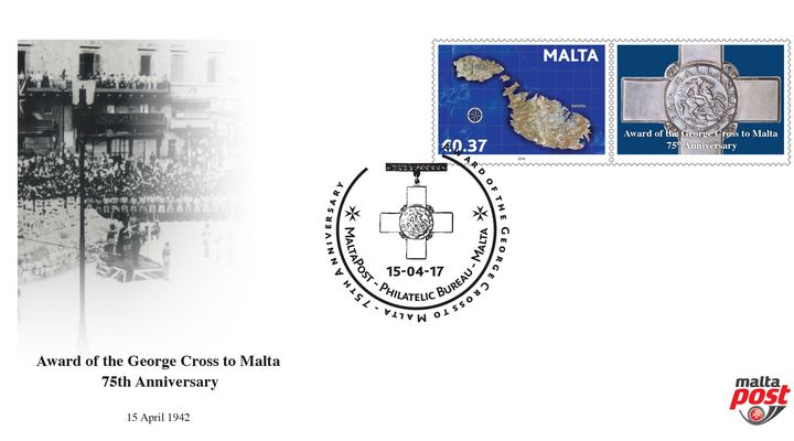 75th anniversary George Cross Award to Malta - Special hand postmark