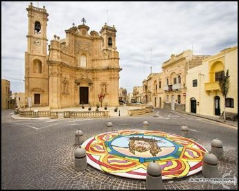 Infiorata designs in salt of the Passion of Christ on display in Gharb