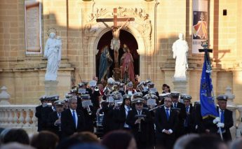 Good Friday Procession watched by large crowds in Xaghra