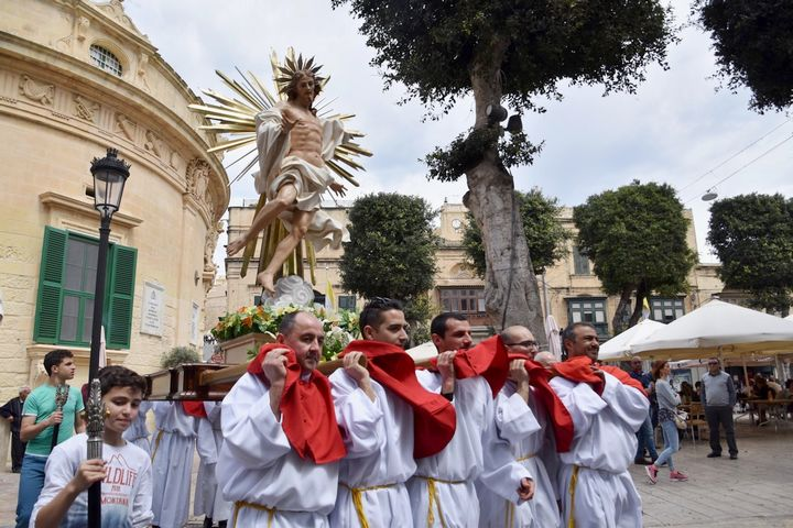 Traditional march celebrations in Gozo welcome the Risen Christ