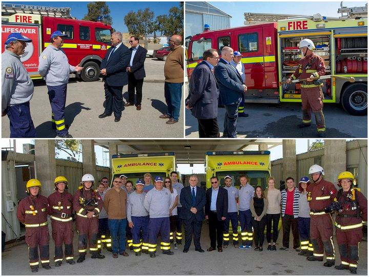 Emergency Response Rescue Corps Gozo receive delivery of new fire engine