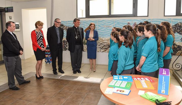 Helping autistic children in Gozo with their catechism lessons