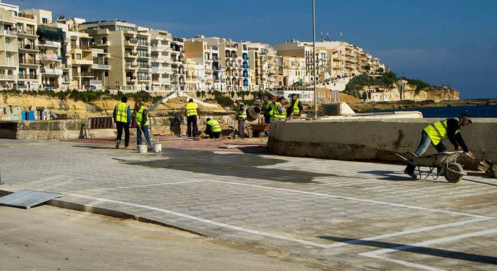 Embellishments works on Marsalforn promenade neari