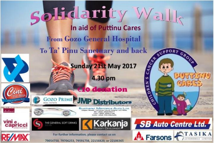 Annual Solidarity Walk in Aid of Puttinu Cares next month in Gozo