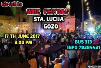 Bis-Sahha Traditional Wine Festival in Santa Lucija next month