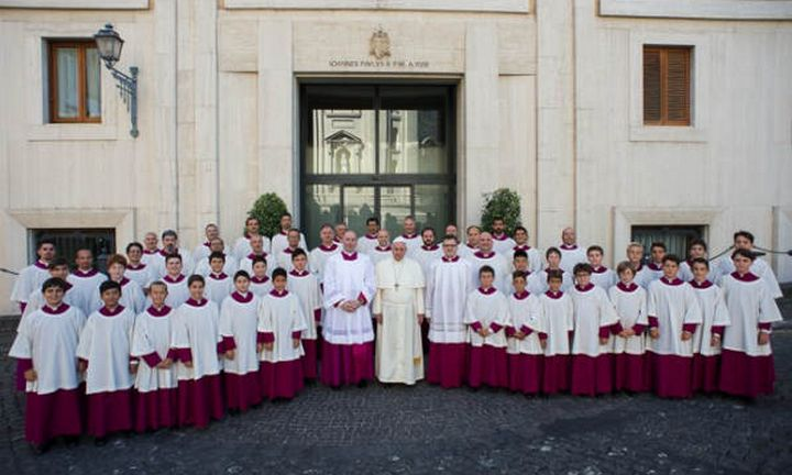 Personal choir of Pope Francis in concert at St George's Basilica