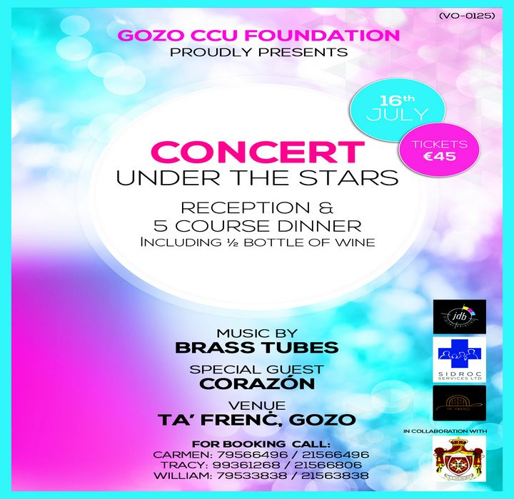 Gozo CCU Foundation fundraising Concert Under the Stars
