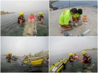 Lifeguard and water rescue training completed by ERRC volunteers