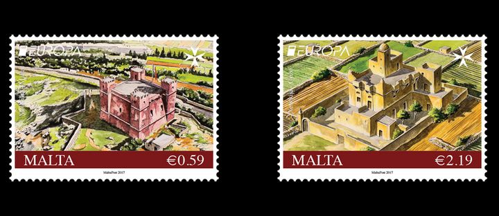 Postage stamp issue - Castles in the EUROPA 2017 series