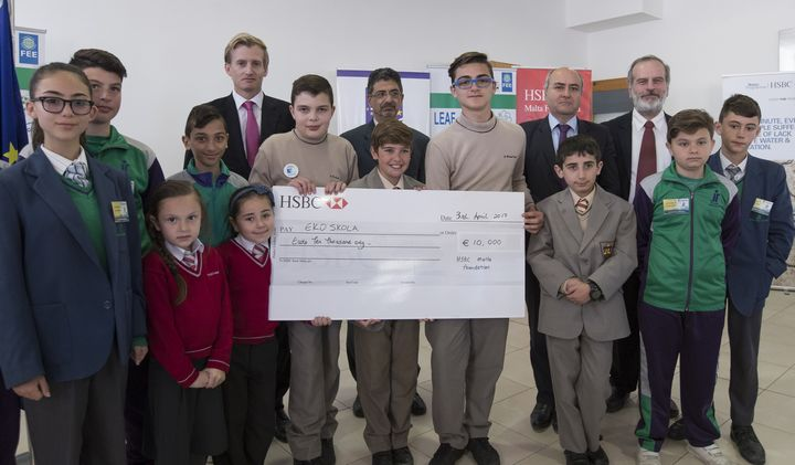 EkoSkola receives renewed support from the HSBC Malta Foundation
