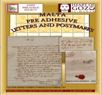Gozo Philatelic Society exhibition - re-adhesive letters