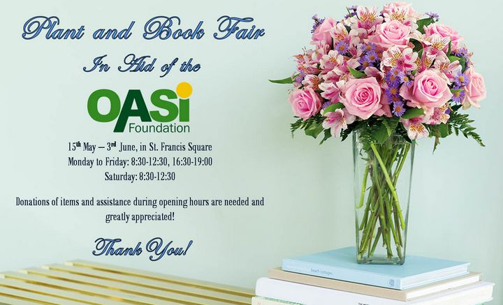 Plant & Book Fair in aid of OASI Foundation opens tomorrow