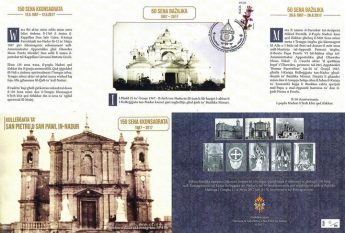 Special Philatelic Anniversary Folder issued by Nadur Parish
