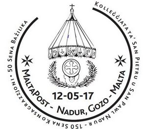 Special hand postmark for Saint & Saint Paul church, Nadur