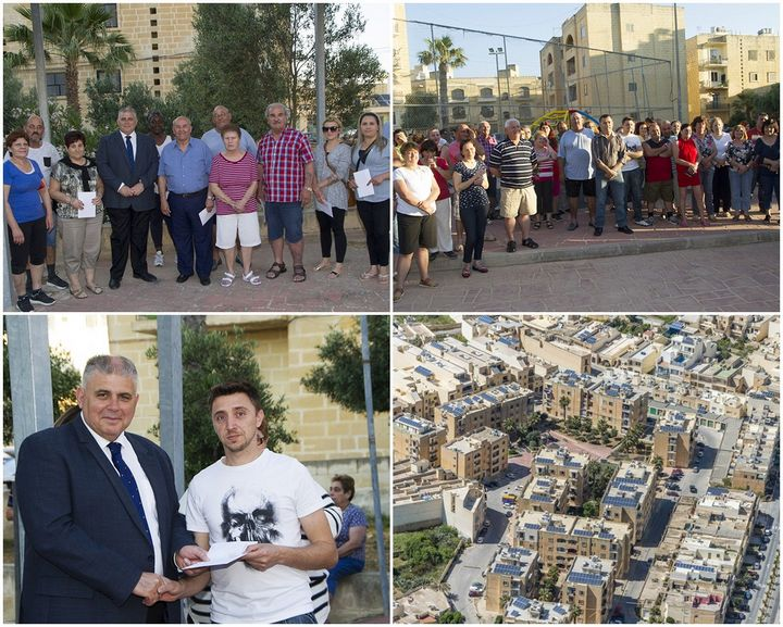 Ta-Cawla housing estate residents receive grant for photovoltaic panels