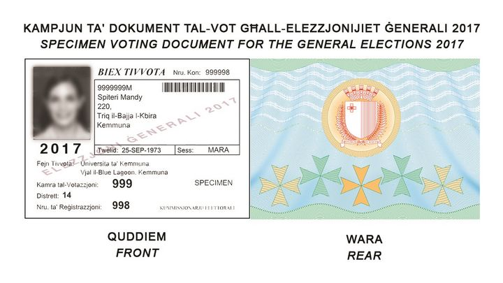 Collection of voting documents in Gozo and Malta