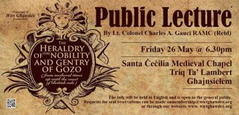 The Heraldry of the nobility and gentry of Gozo - Public lecture