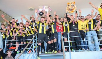 Xewkija Tigers & fans celebrate BOV GFA 1st Division League Champion win